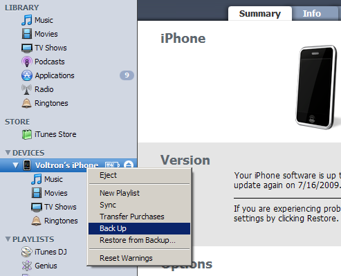 How to Back Up Desired Files From the iPhone