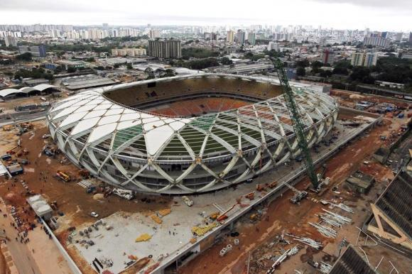 Work Suspended On World Cup Soccer Stadium Seats After Death