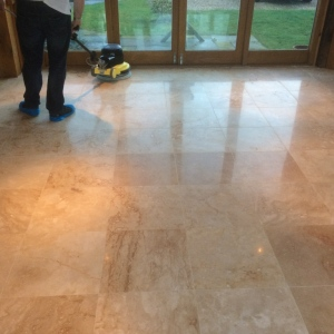 Cleaning, Sealing and Polishing Travertine Tiles, Floors and Countertops