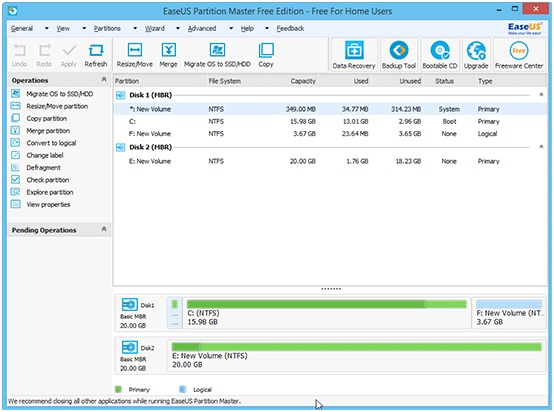 EaseUS Partition Master Free Software – A Superb Disk Management Tool