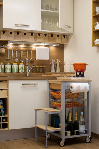 Space-saving ideas the table for the kitchen DIY