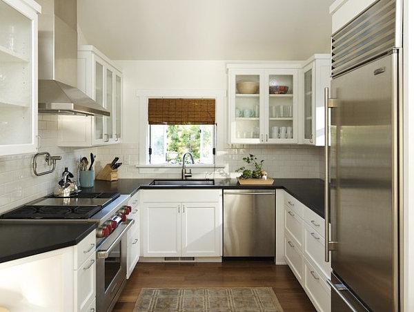 modern small kitchen spacious