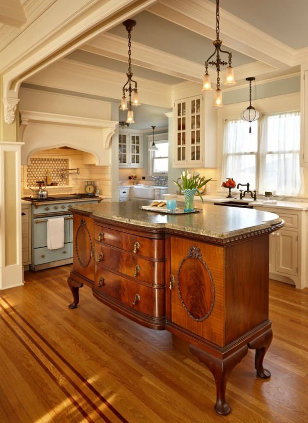 antique round for small kitchen with lighting fixtures