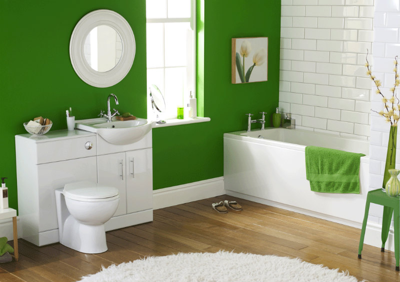bathroom decorating ideas with combined paint colors ideas