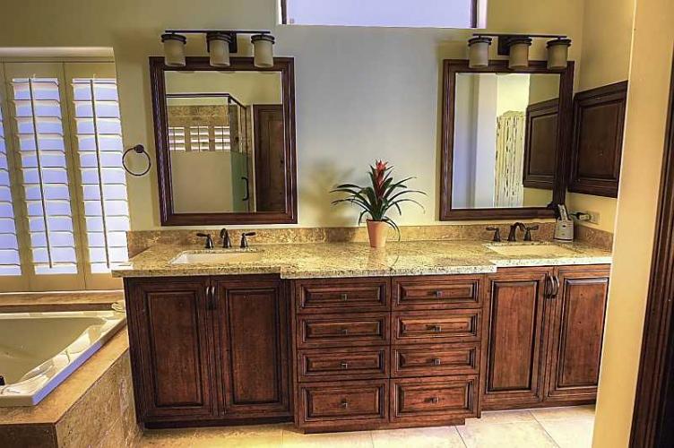 bathroom remodel cabinets