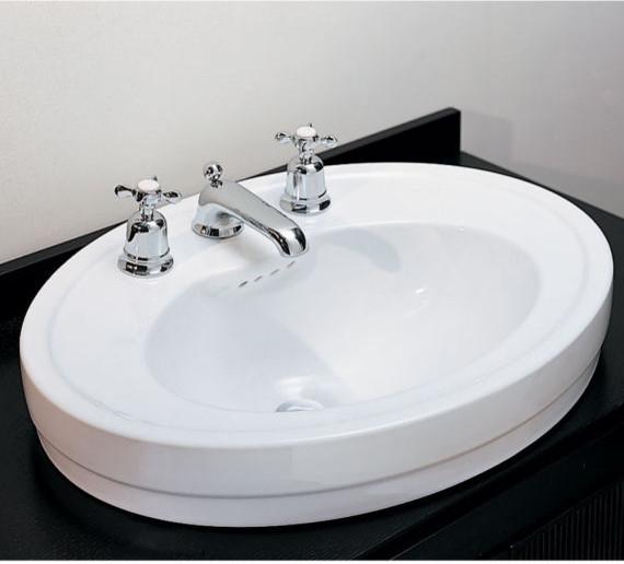 bathroom sinks round