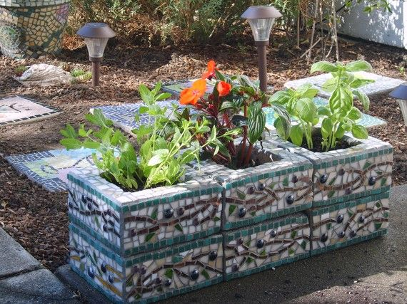 cinder block eclectic outdoor pots and planters