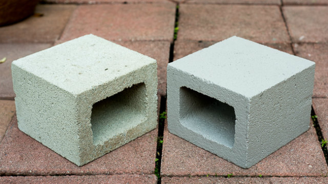 concrete cinder blocks garden