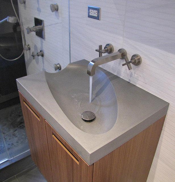 concrete guest bathroom sinks