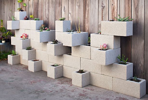 creative uses of concrete blocks in your home and garden