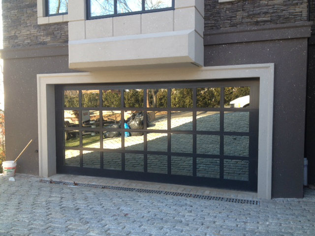 garage door glass windows