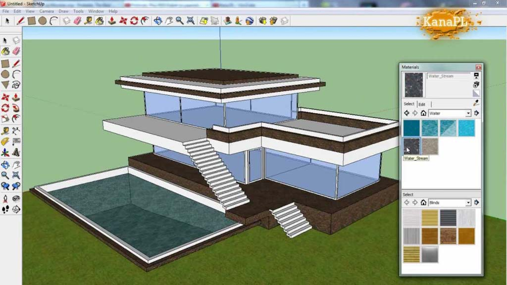 how to design a house in sketchup