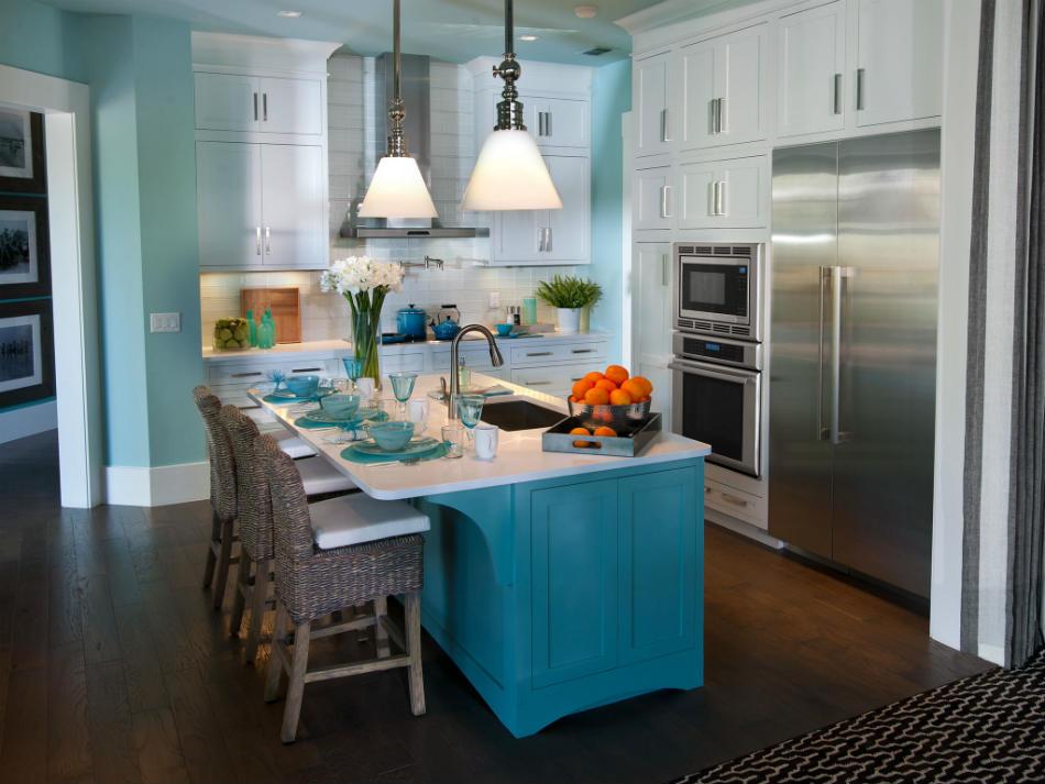 kitchen interior paint light blue