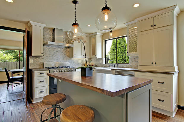 kitchen remodeling trends with wooden kitchen round and chair with modern kitchen lihting ideas