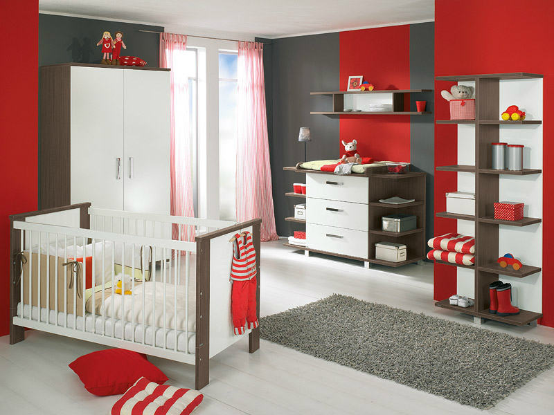 nursery ideas for girls room with red baby room ideas