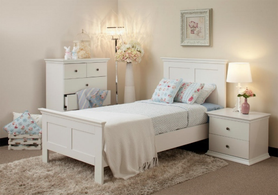 simple white childrens bedroom furniture