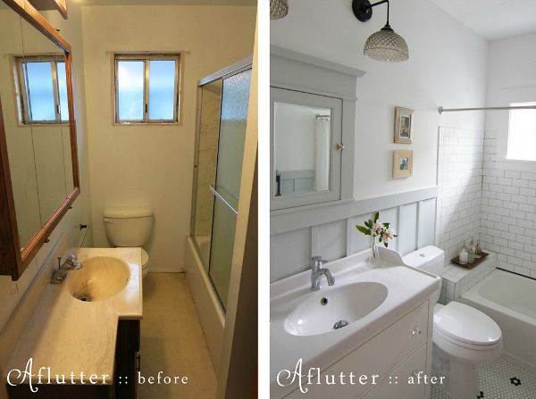 small bathroom remodeling pictures before and after