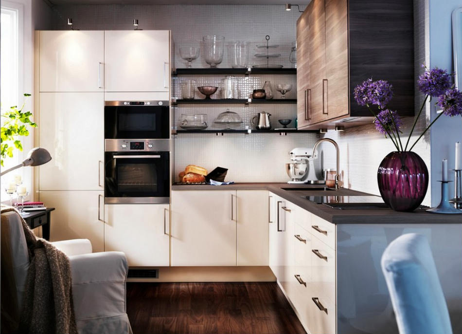 small kitchen ideas smart design decoration with wooden frlooring and white cabinet spaces