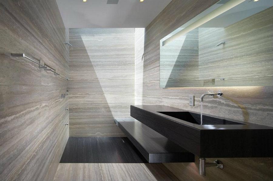 travertine bathroom walls materials