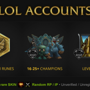 Buy LOL Accounts From The Smurf Store